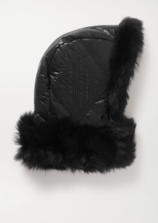 Chloé Shearling-trimmed Shell Snood