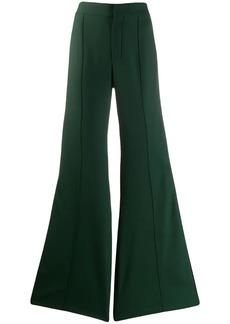 Chloé side stripe flared trousers