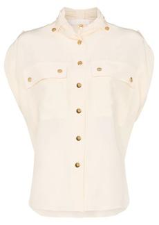 Chloé silk button up sleeve top