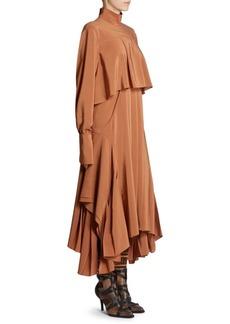 Chloé Silk Handkerchief Midi Dress