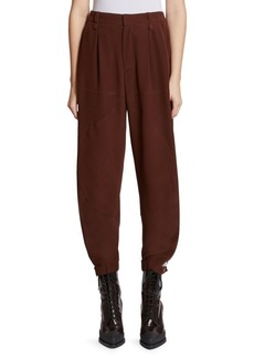 Chloé Silk Jodphur Jogging Pants
