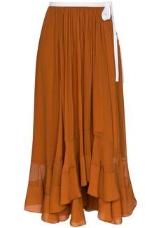 Chloé silk-mousseline midi skirt