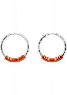 Chloé SIlver & Orange Reese Earrings