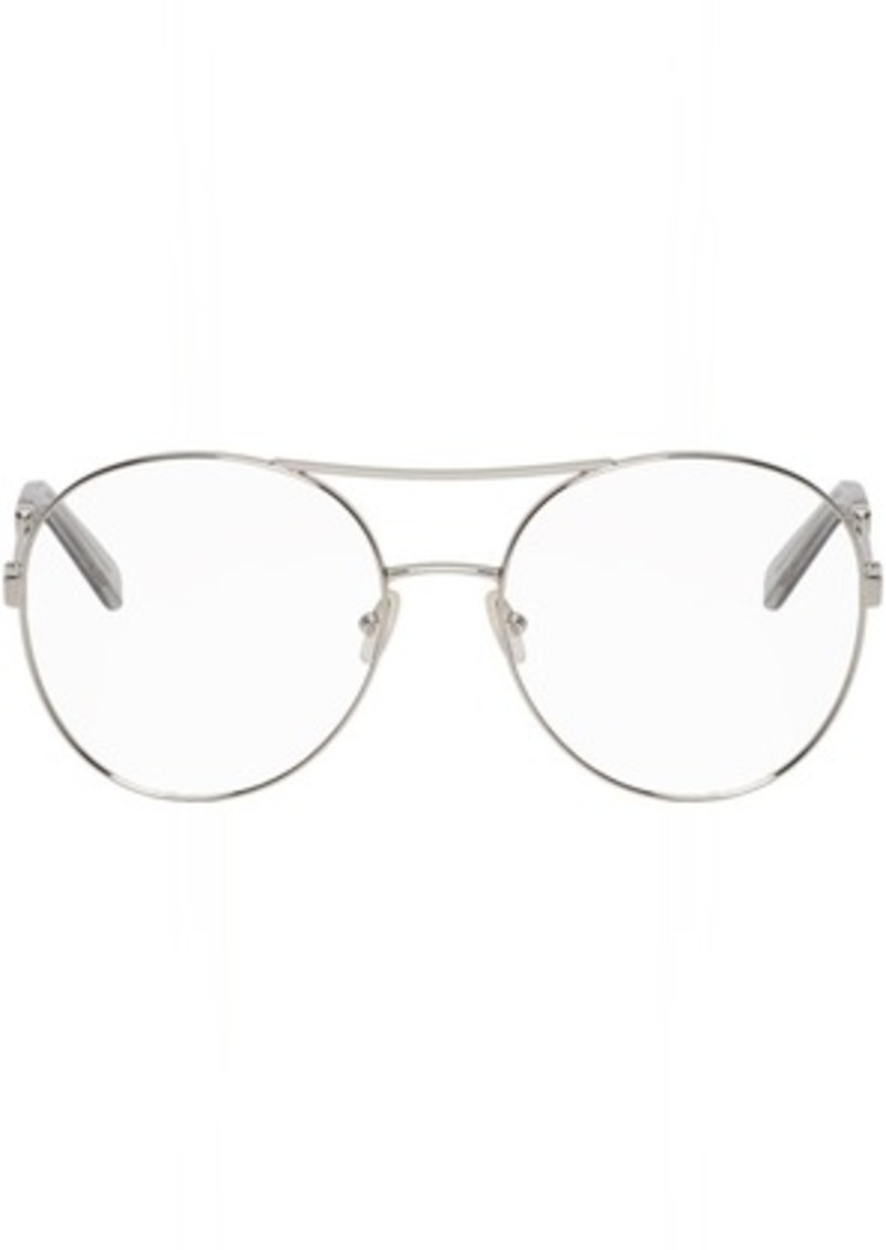 b9bf106e7160 Chloé Silver Jacky Aviator Glasses