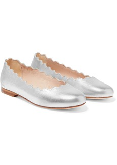 Chloé Sizes 29 - 35 Scalloped Metallic Leather Ballet Flats