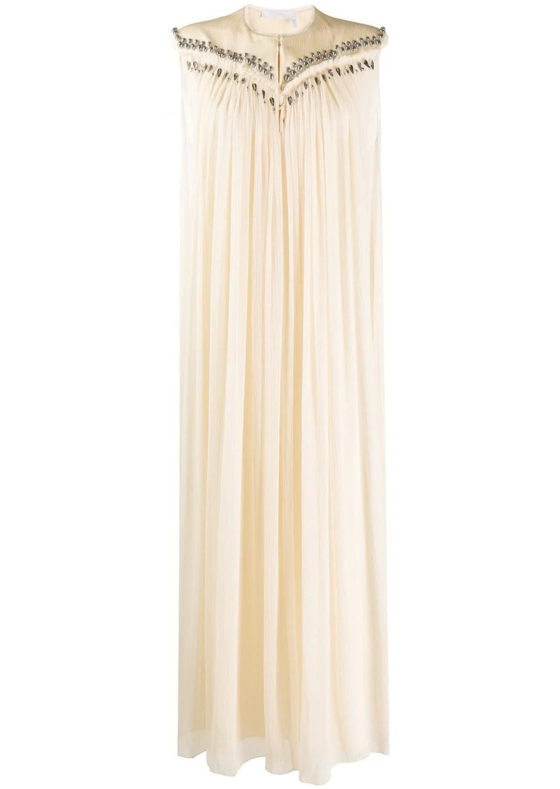 Chloé sleeveless pleated maxi dress