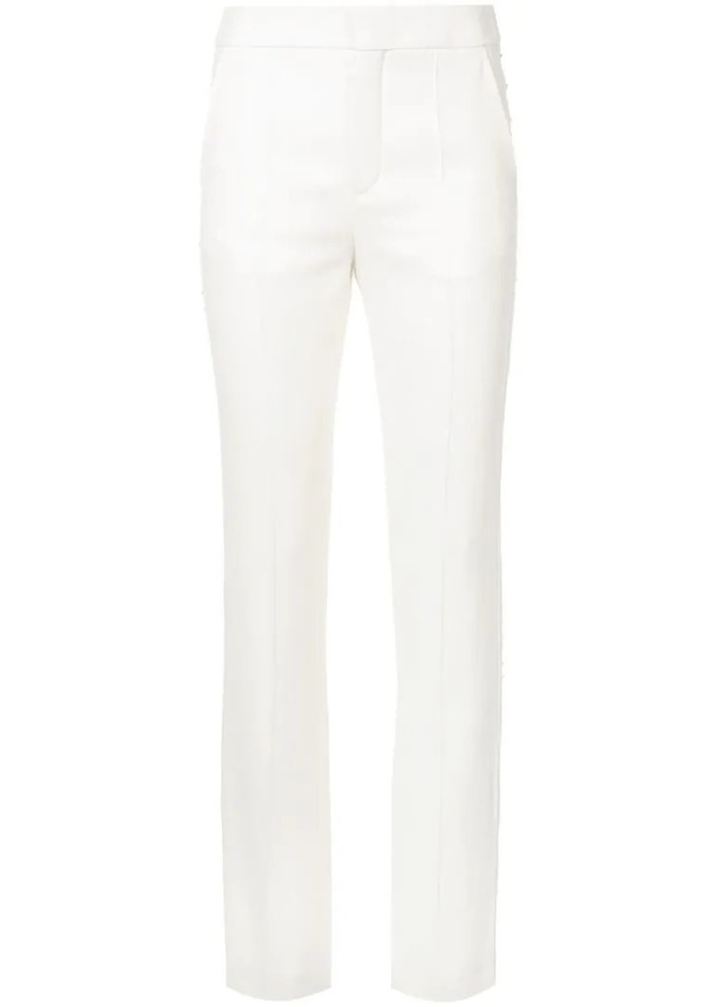 Chloé slim fit embellished stripe trousers