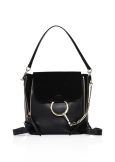 Chloé Small Faye Leather & Suede Backpack
