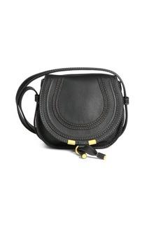 Chloé Mini Marcie Grained Leather Saddle Bag