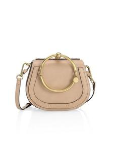 Chloé Small Nile Leather & Suede Bracelet Bag
