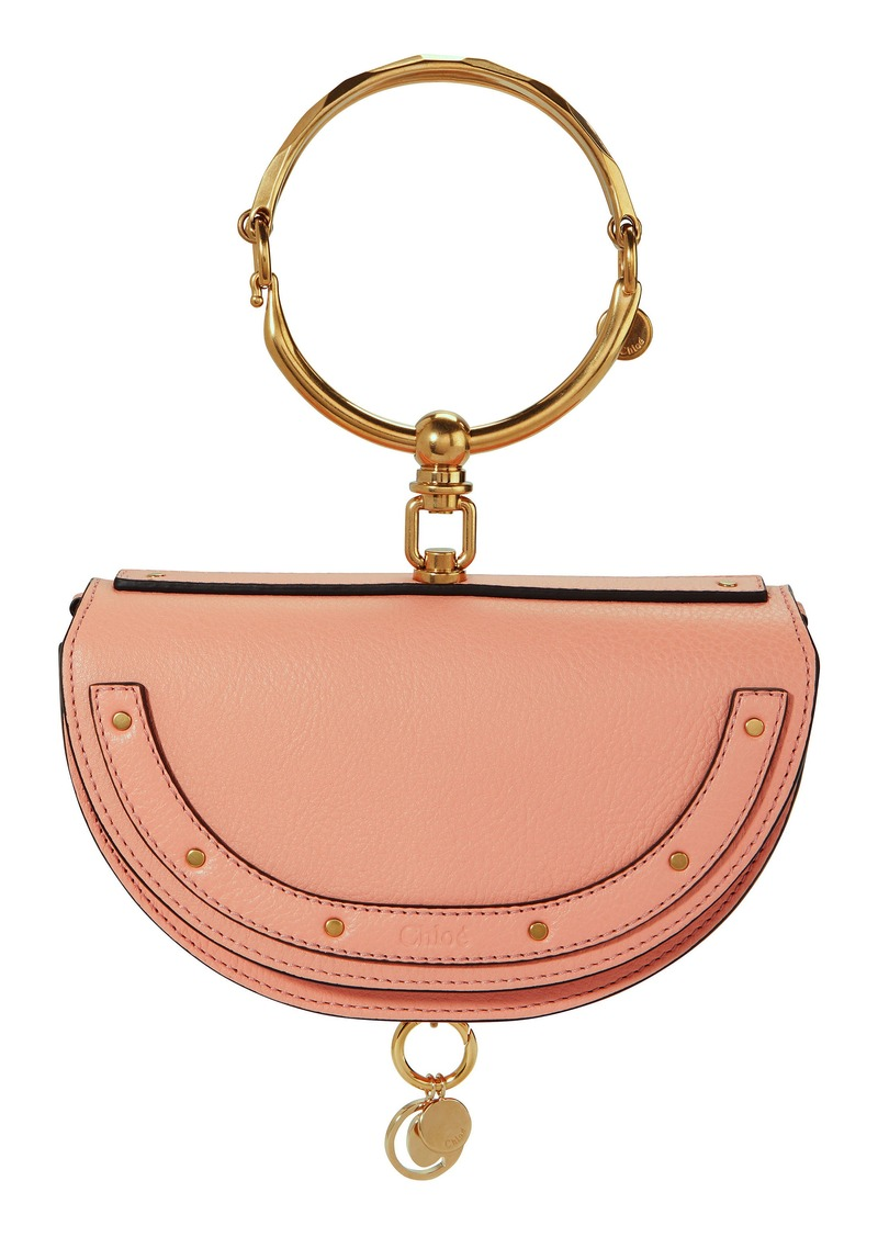 8c7d5042d6 Small Nile Pink Leather Minaudiere