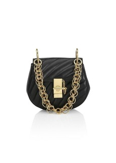 Chloé Small Drew Quilted Leather Saddle Bag