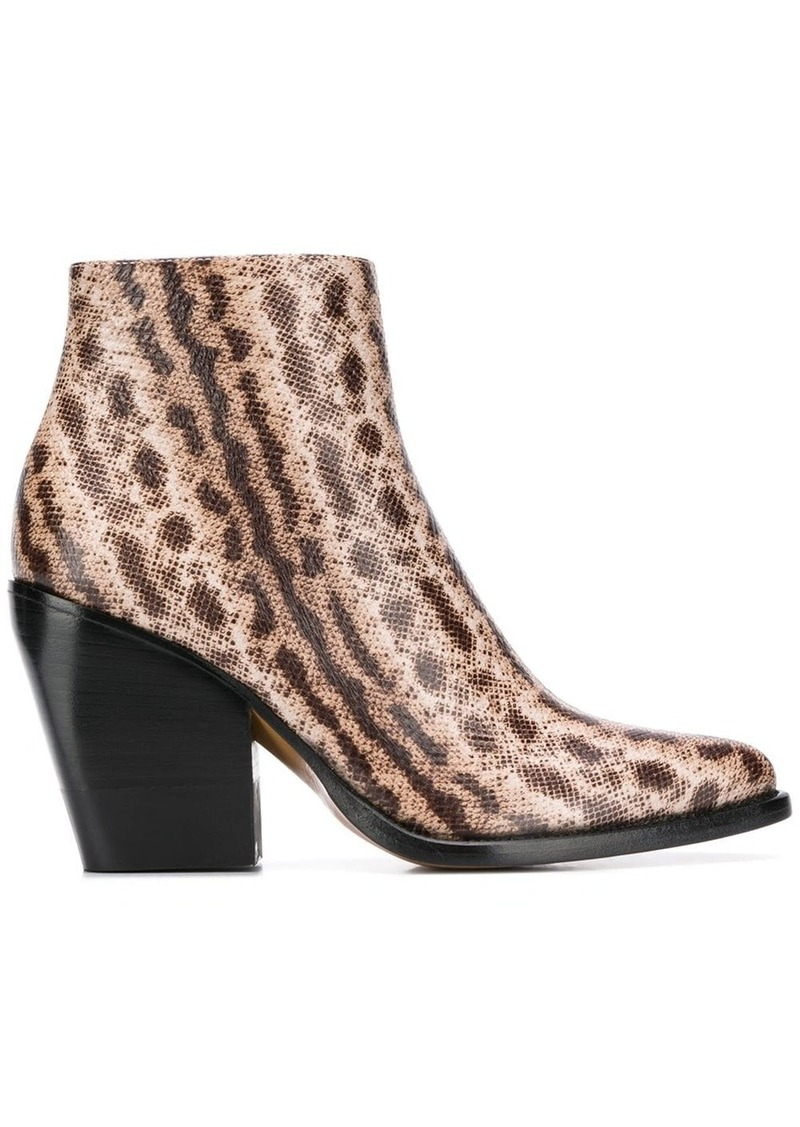 Chloé snake-effect ankle boots