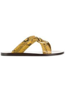 Chloé snake print Rony sandals