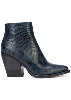 Chloé snakeskin effect ankle boots