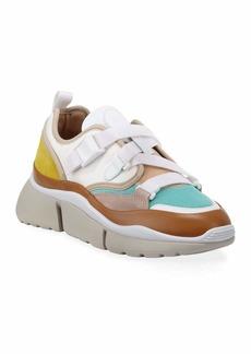 Chloé Sonnie Multicolor Buckle Sneakers