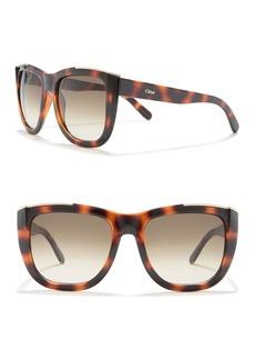 Chloé Square 55mm Sunglasses