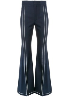 Chloé stitched trim flared trousers