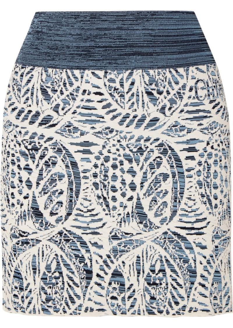 Chloé Stretch Jacquard-knit Mini Skirt