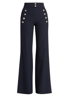 Chloé Stretch-Wool Flare Trousers