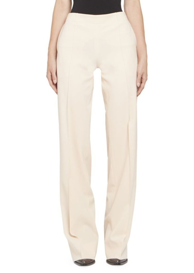 Chloé Stretch Wool Side Zip Flare Pants