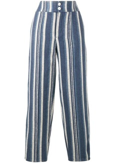 Chloé striped canvas trousers