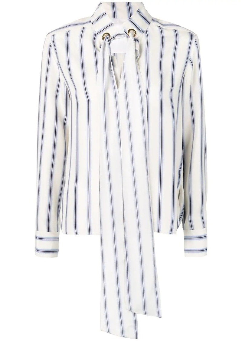 Chloé striped cravate blouse