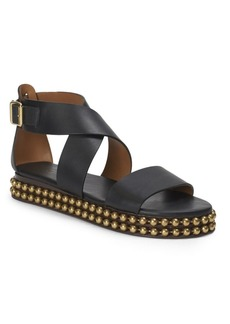 Chloé Sawyer Studded Leather Wrap Gladiator Sandals