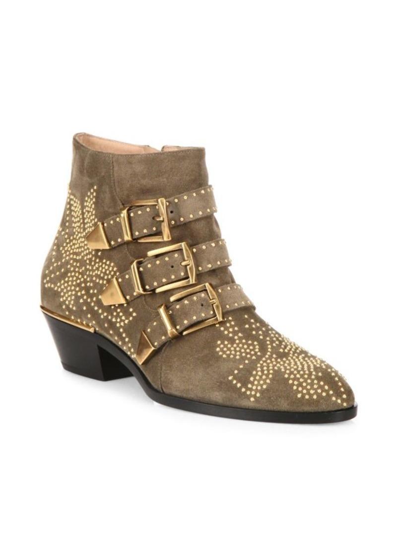 Chloé Susanna Studded Suede Ankle Boots