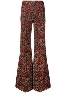 Chloé swirl print kick flare trousers