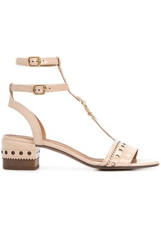 Chloé T-bar block heel sandals