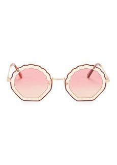 Chloé Tally 56MM Shell Sunglasses
