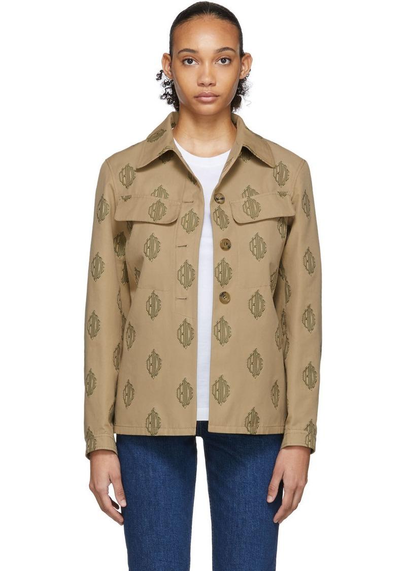 Chloé Tan Monogram Jacket