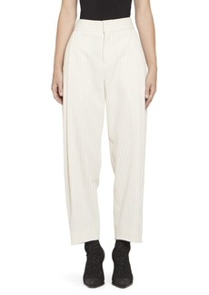 Chloé Tennis Stripe Wool Front Pleat Trousers
