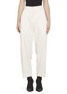 Chloé Tennis Stripe Wool Front Pleat Trousers