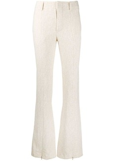 Chloé textured flared trousers