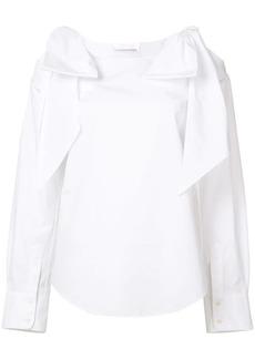 Chloé tie cold shoulder blouse