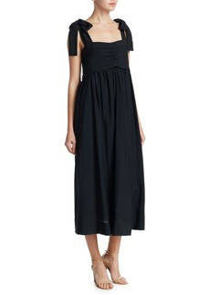 See by Chloé Tie Shoulder Maxi Dress