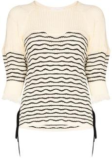 Chloé tie-side striped knit jumper