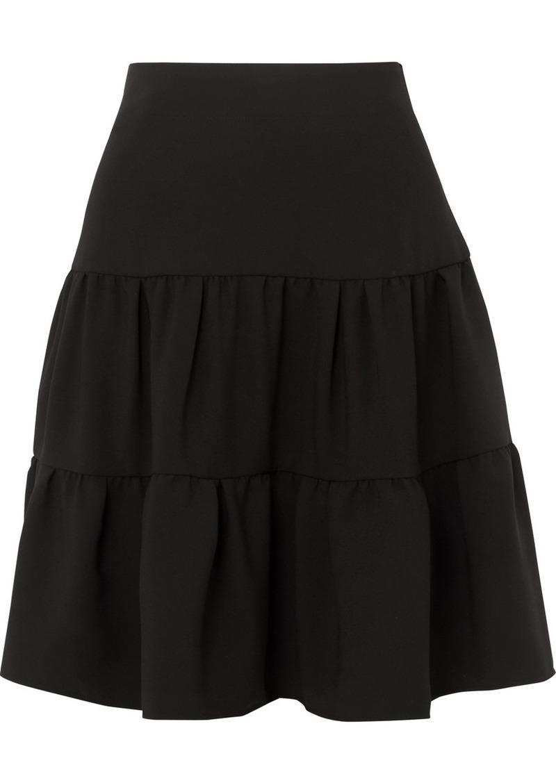 Chloé Tiered Crepe De Chine Skirt