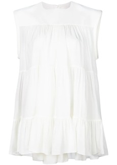 Chloé tiered gathered top