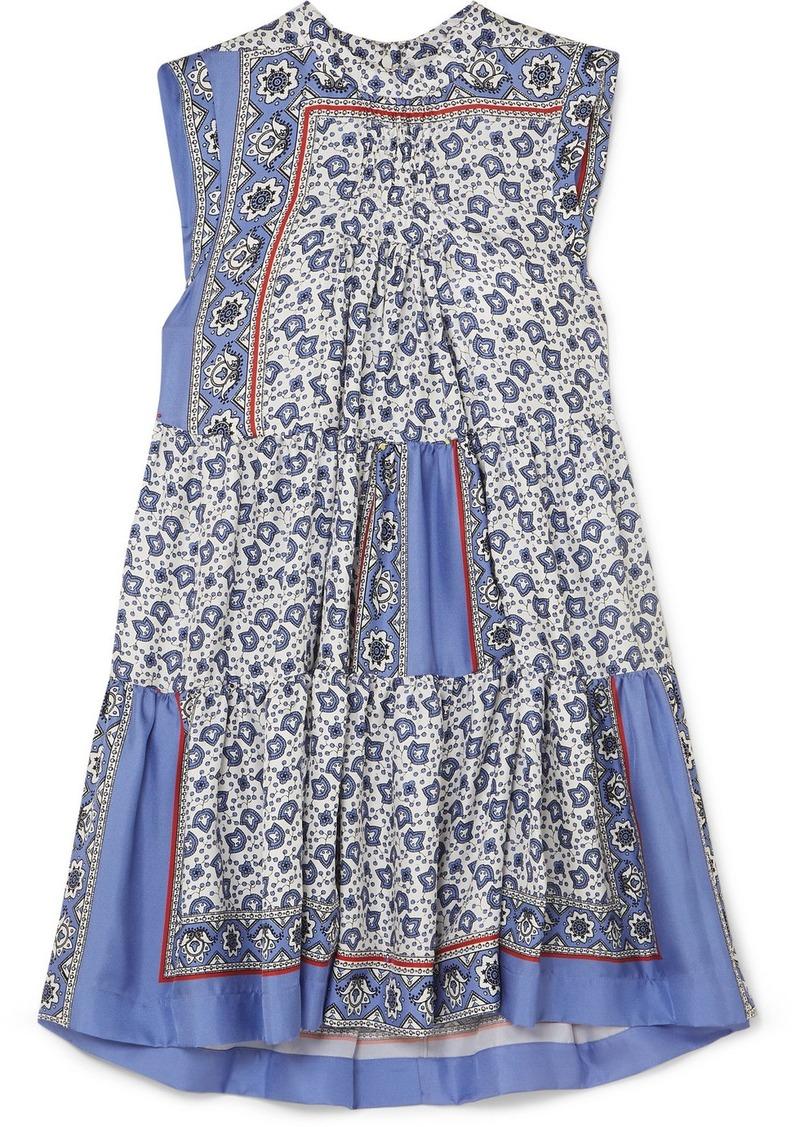 Chloé Tiered Printed Silk-twill Mini Dress