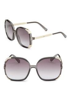 Tinted 62MM Square Sunglasses