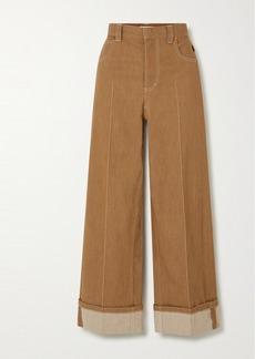 Chloé Topstitched Wide-leg Jeans