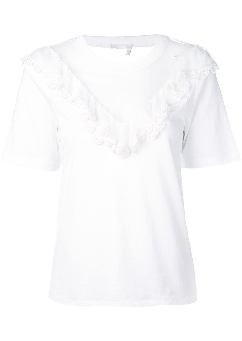 Chloé transparent V-neck T-shirt