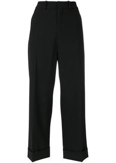 Chloé turn-up cropped trousers