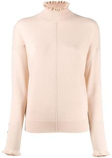Chloé turtleneck ruffle sweater