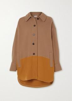Chloé Two-tone Wool-blend Coat