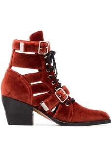 Chloé velvet reilly 60 buckle boots