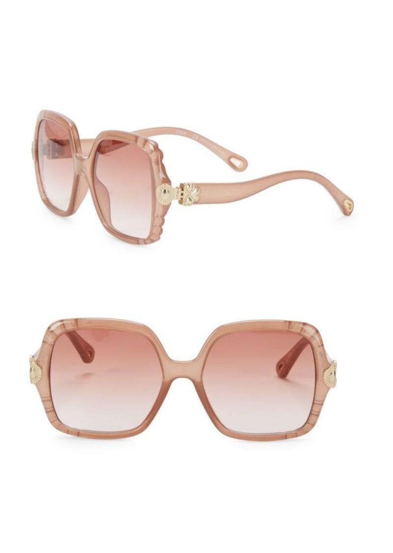 Chloé Vera 55MM Oversize Square Sunglasses